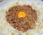 豚ひき肉の初日の出甘煮