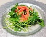 サーモンと三つ葉のえごま油サラダ!