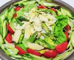 タケノコベースの木の芽風味のサラダ