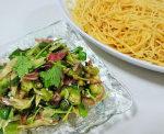 香味野菜とオクラの冷製パスタ